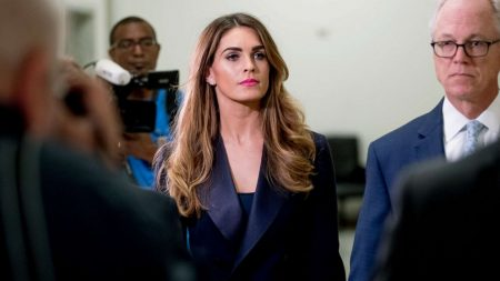 Ex-Trump aide Hicks deflects questions on Capitol Hill